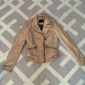 Zara Collection faux leather Moto jacket sz M