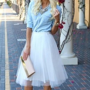 White Tulle Skirt 5 layers