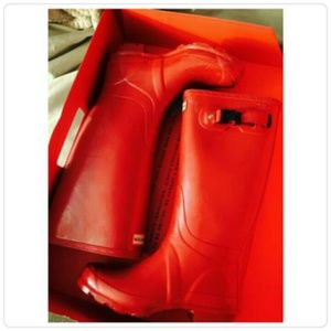 Military Red Hunter Rain Boots