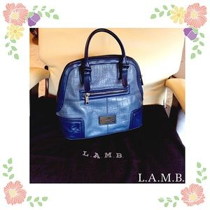 ⛔️ AUTHENTIC L.A.M.B. CROCO SATCHEL