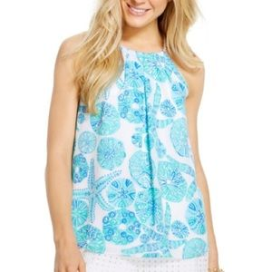 Tops - Lilly for Target 'Sea Urchin For You' Halter Tank