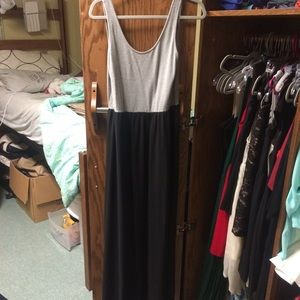 H&M grey and black maxi dress- size 10