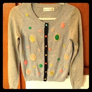 Anthro embroidered sparkly cardigan