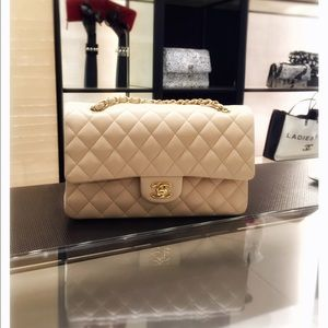 287cf44d0d589a CHANEL Bags - Just sharing: CHANEL beige medium classic flap 😍