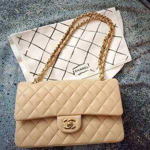 c0de9dd79c0d CHANEL Bags - Just sharing  CHANEL beige medium classic flap 😍