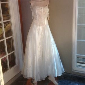 Nude formal wear with tag