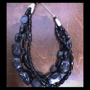 NWOT Black Stone Necklace