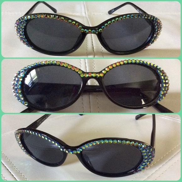 1d83cf0707 Jimmy Crystal NY Accessories - Jimmy Crystal Green  Black Swarovski  Sunglasses