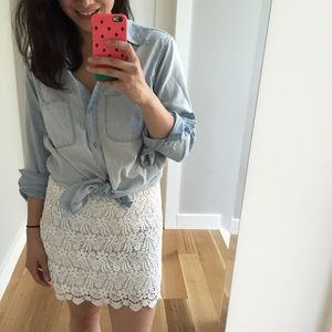 Zara Dresses & Skirts - Zara white lace mini skirt