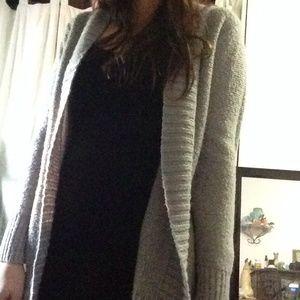 Long grey sparkly cardigan