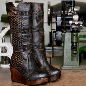Bed Stu Token Black Saddle Boots