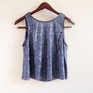 | new | low back metallic tank
