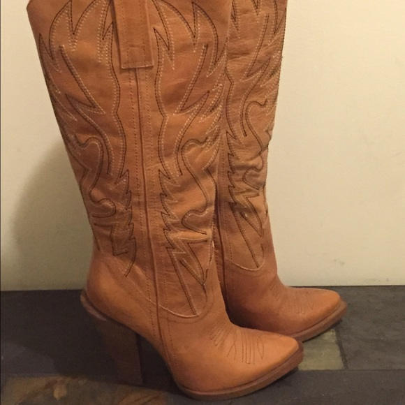 Jessica Simpson - NEW Jessica Simpson Alan High Heel Cowboy Boots ...