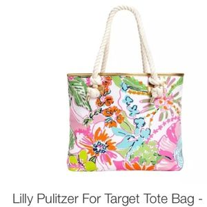 Lilly Pulitzer Handbags - ✋NFS✋Lilly P. for Target Tote Bag w Rope handles
