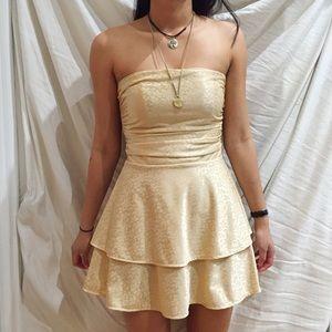 Urban Renewal Gold Dress