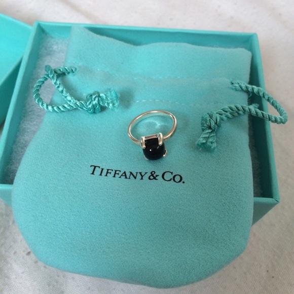 Palomas Sugar Stacks ring in sterling silver with a black onyx - Size 5 Tiffany & Co. TSY9Pbq