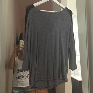 Zara knit top with zipper detail on the back