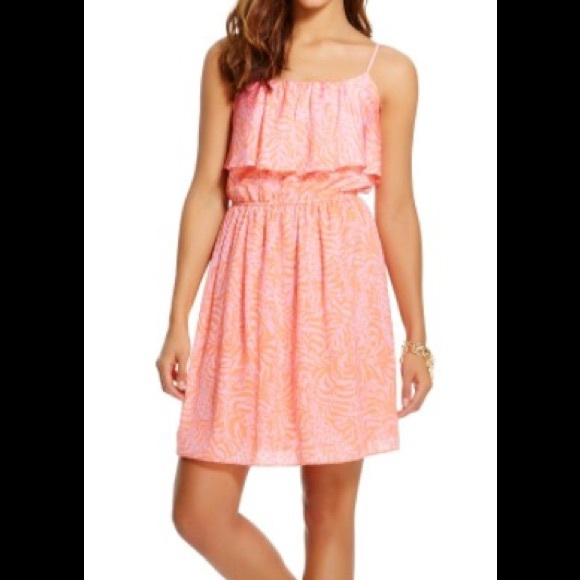 2bea0e45571 Lilly Pulitzer for Target Satin Flounce Dress Med