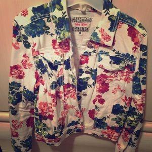Floral Jean material jacket