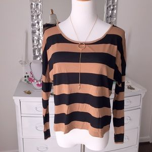 Black and Tan striped top