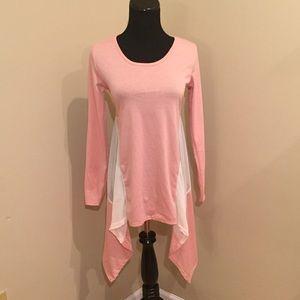 Tops - NEW Asymmetrical Hemline Colorblock LS Shirt