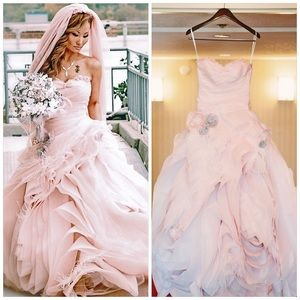 Blush Pink Vera Wang Wedding Gown