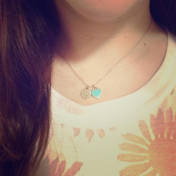 Tiffany co jewelry tiffany double heart pendant in silver and tiffany double heart pendant in silver and enamel aloadofball Image collections