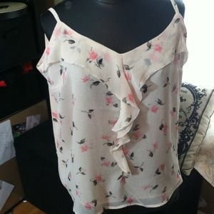 New York & Company Tops - Pink Flower Top
