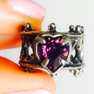 Purple Heart Swarovski Crystal Ring 7