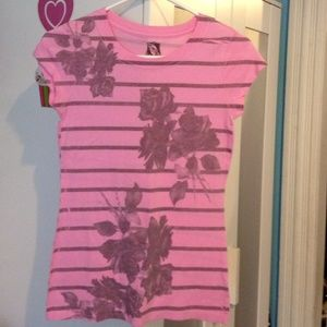 Pretty in pink rose tee
