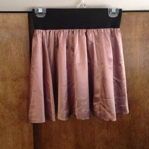 Mauve Satin F21 Skirt