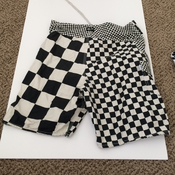 Black And White Checkered Shorts - The Else