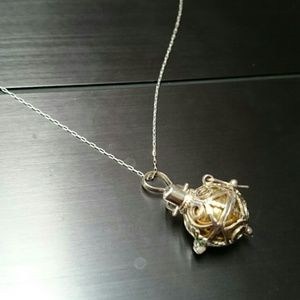 Jewelry - Intricate and Dainty Silver Bottle Necklace.