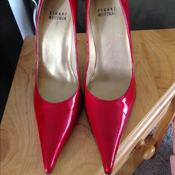 Stuart Weitzman Pointed Toe Red Heels