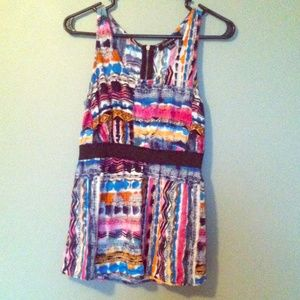 Fun and Brightly colored tribal printed top