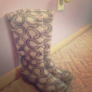 Size 6 Coach rain boots.