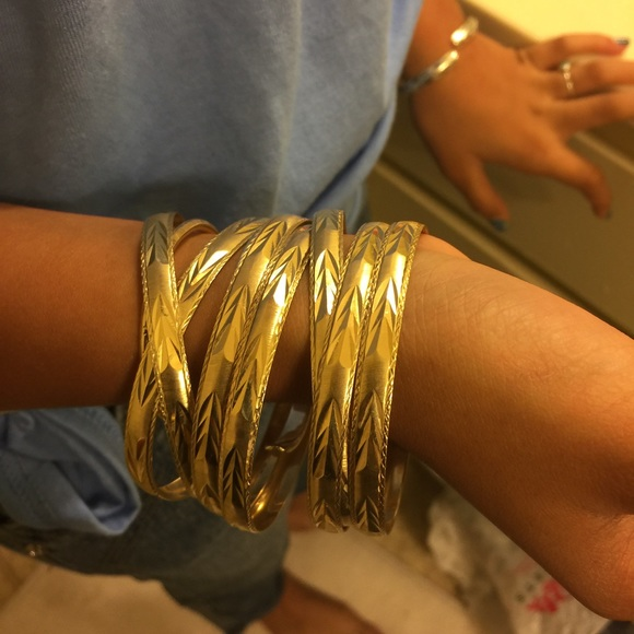 silver bark sterling yellow textured collections bracelet bangles plated bracelets slip gold over on bangle products