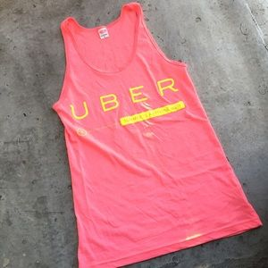 American Apparel Uber Pink and Yellow Tank