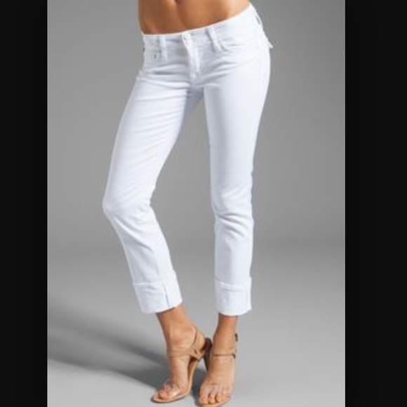 77% off Hudson Jeans Denim - Hudson white cropped jeans size 25 ...
