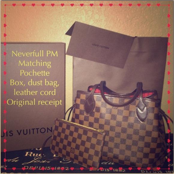 ec9127a12a36 Louis Vuitton Handbags - Louis Vuitton Neverfull PM w  Pochette