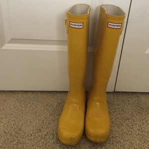 Yellow Tall Hunter Boots