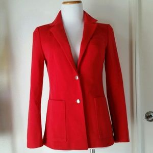 True vintage one of a kind tailored red blazer