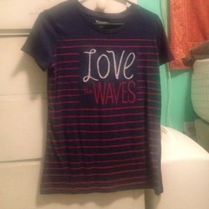 """love the waves"" t-shirt"