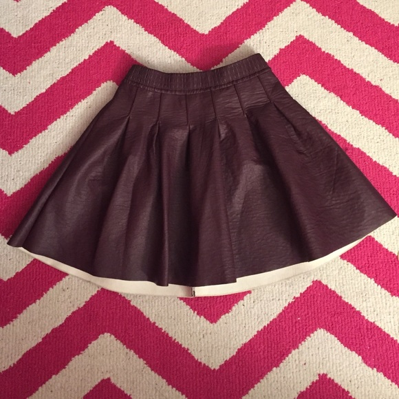 2 h m dresses skirts h m faux leather pleated