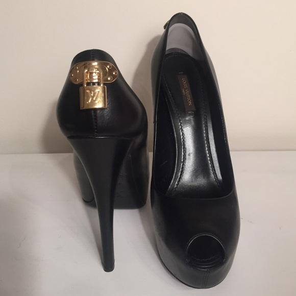 52383fb73f Louis Vuitton Shoes - Black Louis Vuitton Oh Really! Peep Toe Pumps