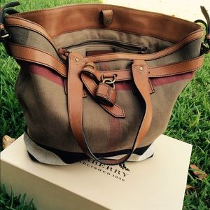 Burberry Handbag Canvas Tote