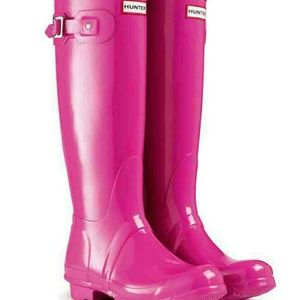 Iso lipstick pink hunter boots tall