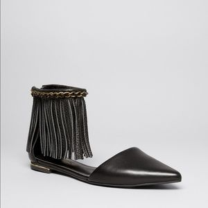 "Rebecca Minkoff Pointed Toe fringe flats - ""Faith"""