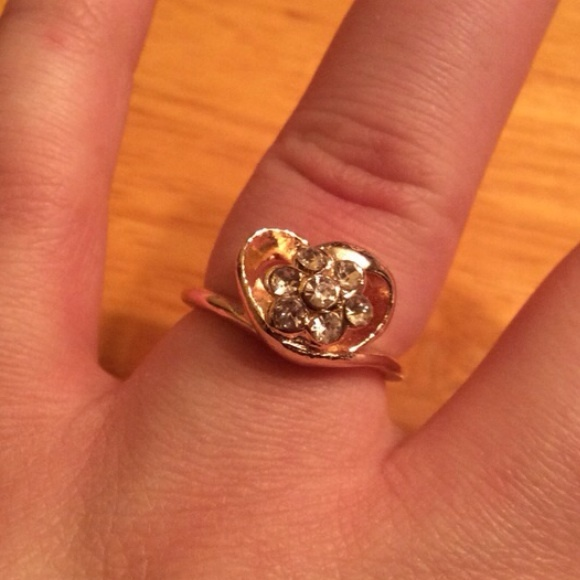 Jimmy Crystal Heart Ring