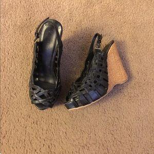 Shoes - Cute black wedges